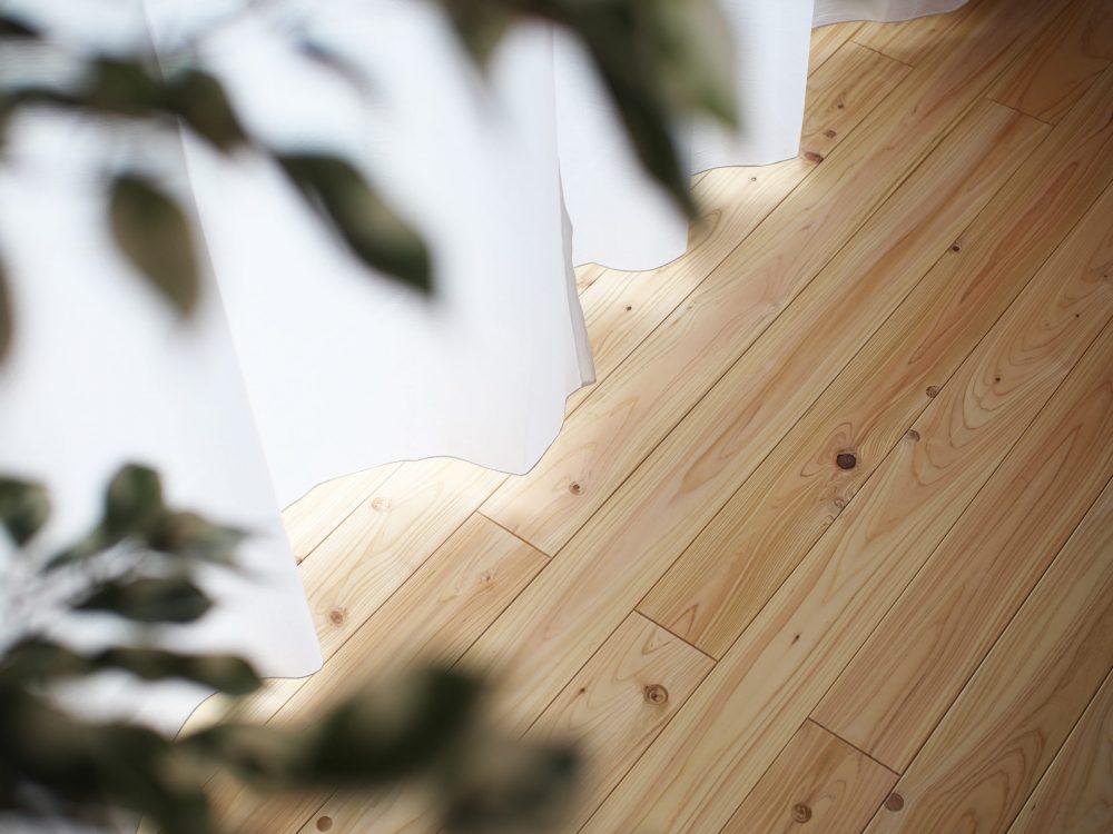 ひのきの床